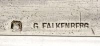 ORFEVRE FALKENBERG - PLATEAU EN ARGENT - DEBUT XXÈ