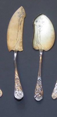 RAVINET D 'ENFERT : Service à glace Art Nouveau