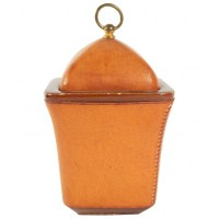 Tobacco Pot, Leather Sheathed From The Maison Longchamp Brand In Paris