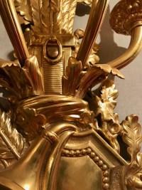 Paire d'appliques en bronze doré, à 4 bras de lumières, de style Louis XVI. Réf: 146