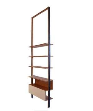 le march biron biblioth que cloison de pierre guariche 1950. Black Bedroom Furniture Sets. Home Design Ideas