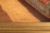 Une huile sur toile orientaliste « Le Barbier turc » XIXème siècle