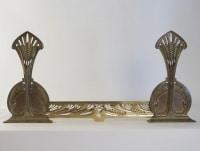 Importants chenets et barre de cheminée de Louis Majorelle