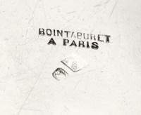 ORFEVRE: BOINTABURET - SUITE DE 4 DESSOUS DE BOUTEILLE EN ARGENT- FIN XIXÈ