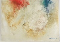 Abstract painting signed 20th Century.