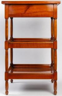 Petite table rafraîchissoir en merisier. XIXème
