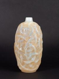 Vase « Ronces » verre opalescent patiné sépia de René LALIQUE