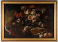 une paire de natures mortes aux fleurs.Huiles sur toiles Italie 17 eme siecle