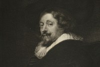 Steel engraving of the portrait of Peter Paul Rubens