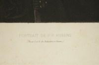Steel engraving of the portrait of Peter Paul Rubens