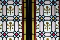 Vitraux aux motifs fleuris XIXème