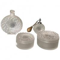 """Lalique France, Toilet Set """"Dahlia"""""""