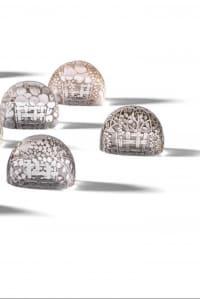 "Rene Lalique 12 Portes menus ""FRUIT""Set of Twelve Menu Holder"