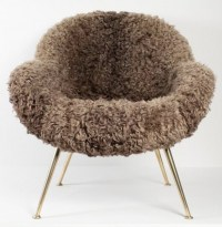 1950s Pair of Fritz Neth Sheep Fur Armchairs