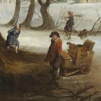 Paysage d'hiver – Attribué à Denys van Alsloot (1570 – 1628)
