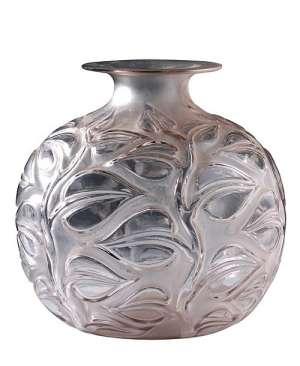 RENE LALIQUE (1860-1945) Paire de vases Sophora gris