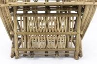 Fauteuil de style ethnique en bambou brut, années 1980