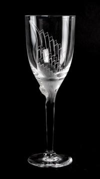 """Verre Lalique """"Ange au sourire"""""""