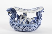 Chinese Porcelain Representative A Dragon Walking A Couple
