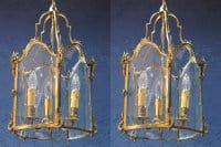A pair of Louis XV style lanterns, Napoleon III period (1848 - 1870).