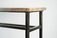 Modern Art Console, painted steel and marble.