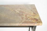 Console, Art Moderne, Acier peint et Marbre