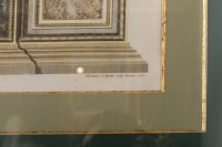 A Pair of Italian 18th Century Fresco Pilasters Ingravings. By Juanes Volpato Rome 1775.