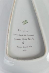 Denise PAROUTY Coupe en porcelaine années 70