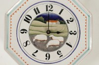 """Claude et Slavik Palley - Horloge """"paysage aux moutons"""""""