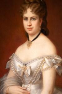 Portrait de Sissi l'Impératrice école De Winterhalter XIXème Siècle