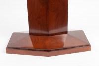 Table en acajou et dessus de galucha Art Déco