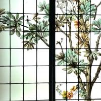 Vitrail vitraux Oiseaux et fleurs