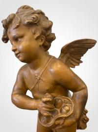 Amour distribuant des cœurs par Eugène Robert (1831-1912)