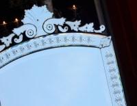 1880/1900' Miroir Venise Vertical a Bulles et  Fleurs  171 x 89,5 cm