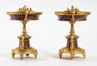Garniture de cheminée en marbre et bronze bien ciselé et doré travail d'époque Napoléon III