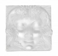 """Lalique Motif décoratif  """"Fontaine Poissons"""" ou """"Masque femme"""""""