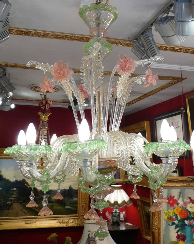 Le march biron murano lustre ancien de venise 20 me si cle 8 lumi res - Lustre de murano occasion ...