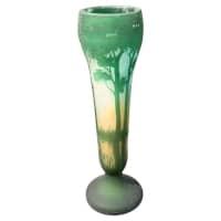Daum Nancy Etched Cameo Glass Landscape