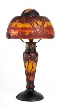 Lampe champignon en pâte de verre, Daum