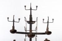 Grand bougeoir en fer forgé 1950 à sept lumières