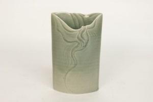 Jean-Claude de CROUSAZ - Vase en porcelaine à couverte céladon