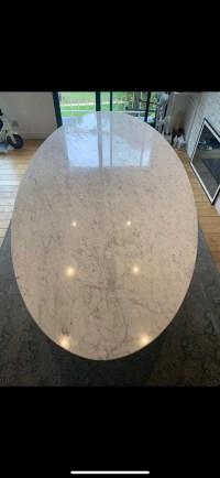 """Piero De Longhi Table ovale """"Reef"""" Marbre Carrare"""