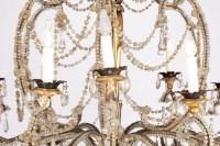 Grand lustre Génois, verre de Murano et cristal, époque 1900