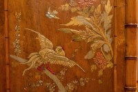 Perret et Vibert, Armoire japonisante style bambou à décor de laque, vers 1880