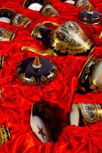 Service à thé en porcelaine bleu de Sèvres
