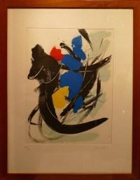 Jean MIOTTE Composition Gravure en couleur signée et numérotée