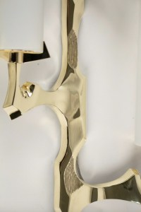 1950s Set of 2 Gilded Bronze Arlus Sconces