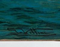 Huile sur toile représentant le retour des pêcheurs