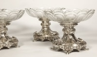 Orfèvre Gustave ODIOT -coupes en argent et cristal de Baccarat