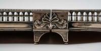 Centre de table en métal argenté. XIX ème siècle.
